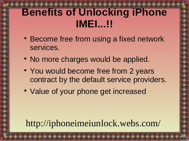 iPhone IMEI Unlock- Way To Live Independently With Your iPhone!