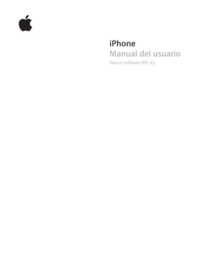 iPhoneManual del usuarioPara el software iOS 4,2