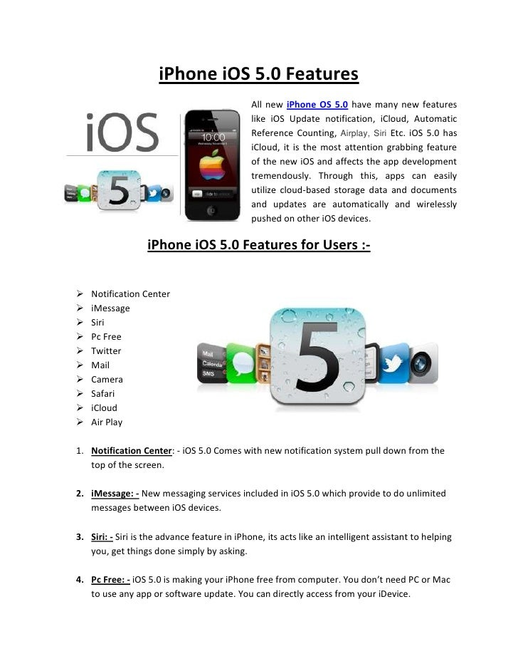 iPhone iOS 5.0 Features                                              All new iPhone OS 5.0 have many new features         ...