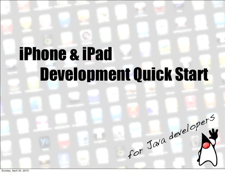 iPhone & iPad                  Development Quick Start                                                    pe rs           ...