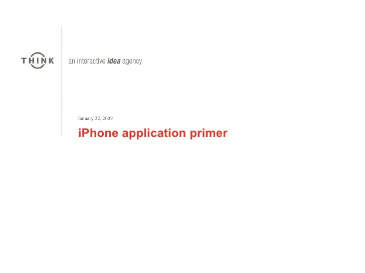 iPhone application primer