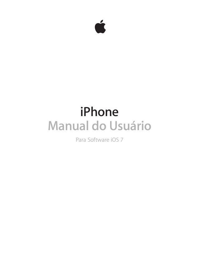 iPhone Manual do Usuário Para Software iOS 7