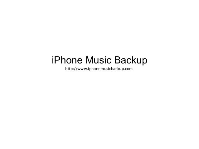 iPhone Music Backup http://www.iphonemusicbackup.com