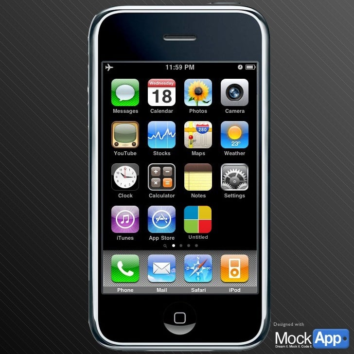 Your 57x57 icon here Untitled Home Screen This is a default iPhone home screen to start your demos from. In presentation m...