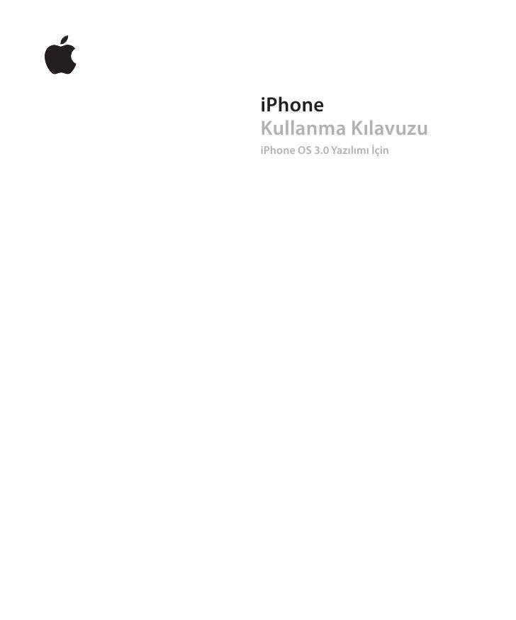 iPhoneKullanma KılavuzuiPhone OS 3.0 Yazılımı İçin