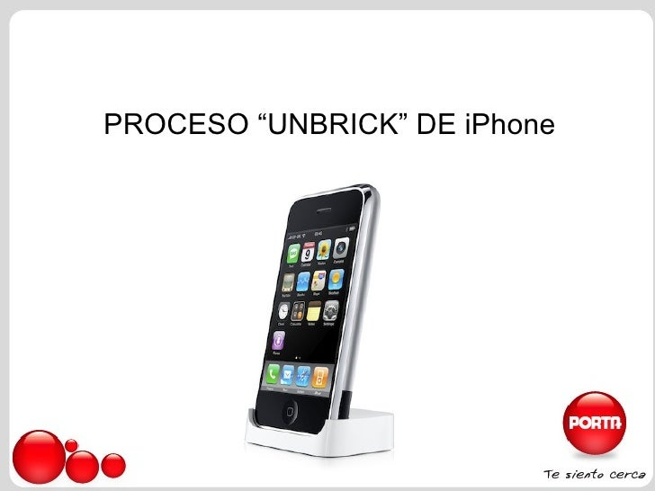 """PROCESO """"UNBRICK"""" DE iPhone"""