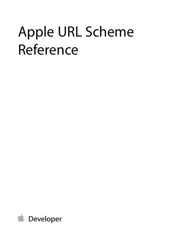 Apple URL Scheme Reference