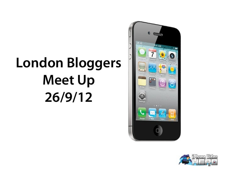 London Bloggers   Meet Up    26/9/12