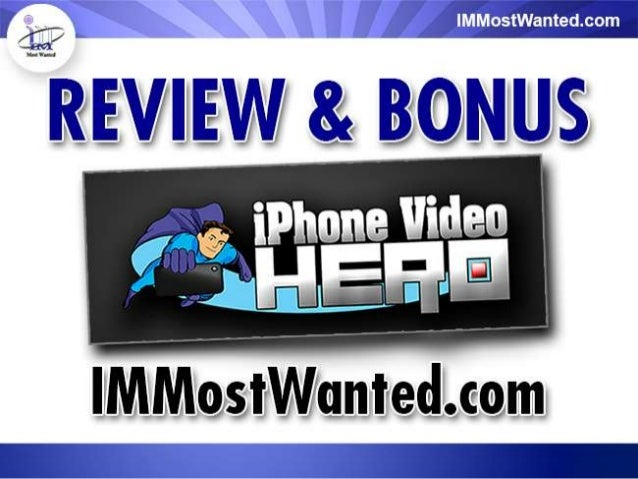 How iPhone Video Hero Can Help You In YourOnline BusinessiPhone Video Hero is something that has the potential of beinga m...