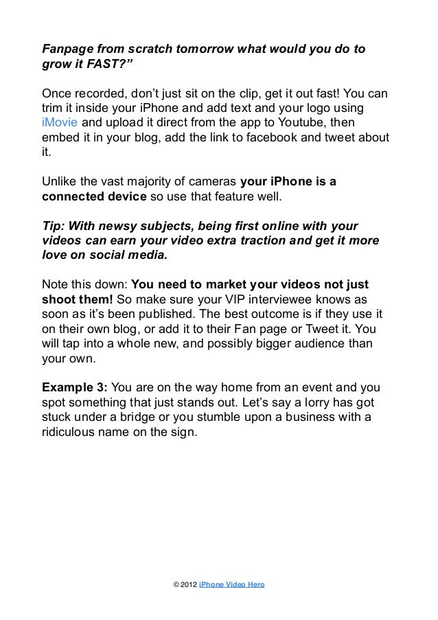 iPhone Video Marketing-The Missing Manual