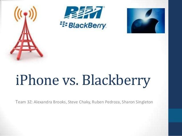 iPhone vs. BlackberryTeam 3Z: Alexandra Brooks, Steve Chaky, Ruben Pedroza, Sharon Singleton
