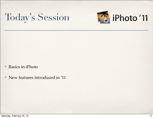 2013-02•iPhoto 11 Slide 2