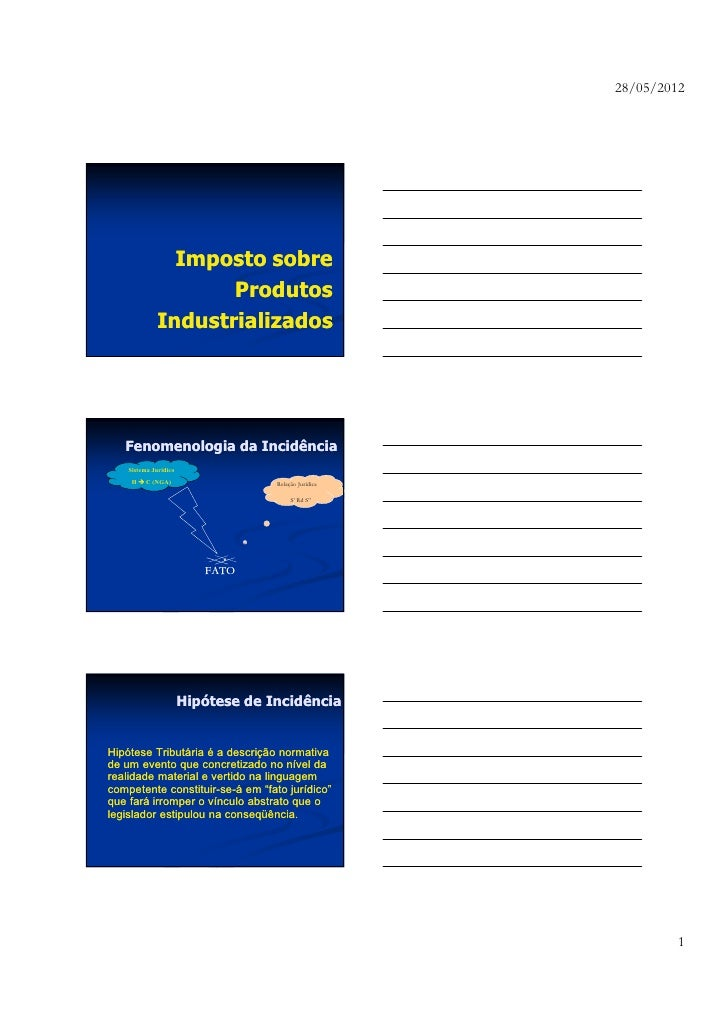 28/05/2012               Imposto sobre                    Produtos             Industrializados   Fenomenologia da Incidên...