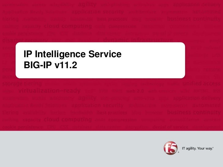 IP Intelligence ServiceBIG-IP v11.2