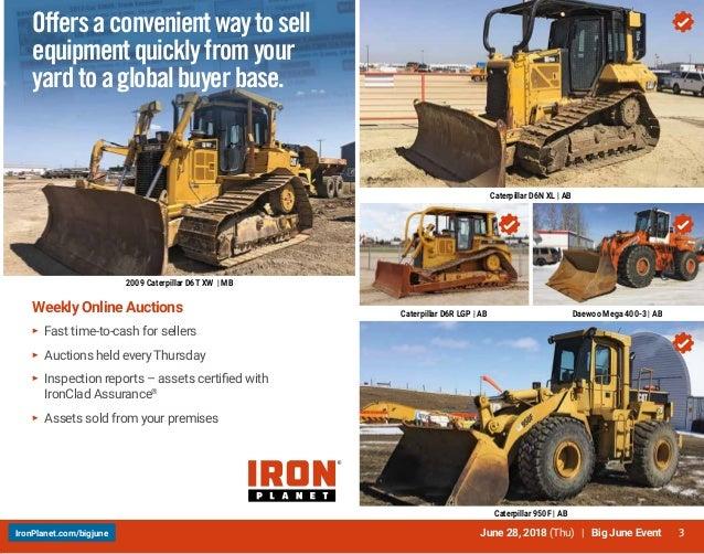 Iron Planet June 28 Canada event brochure