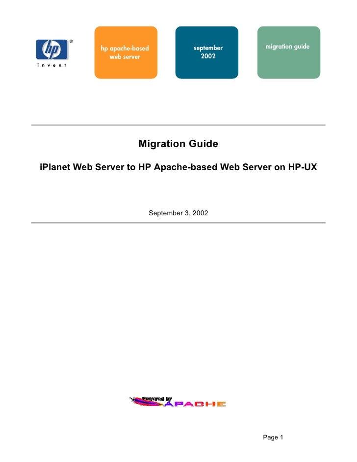 hp apache-based           september   migration guide                web server               2002                        ...