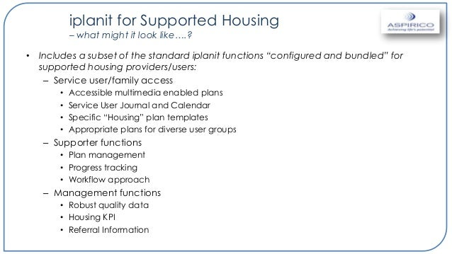 for supported housing
