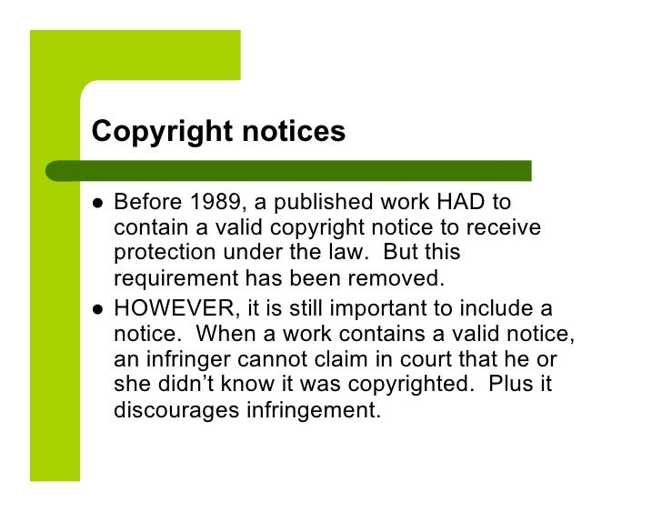 Copyright Notices ...