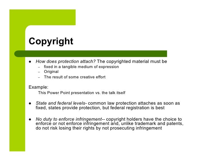 Ip Law And The Internet Presentation (1)