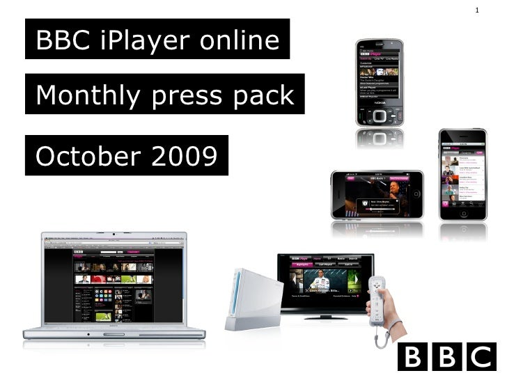 BBC iPlayer online Monthly press pack October 2009