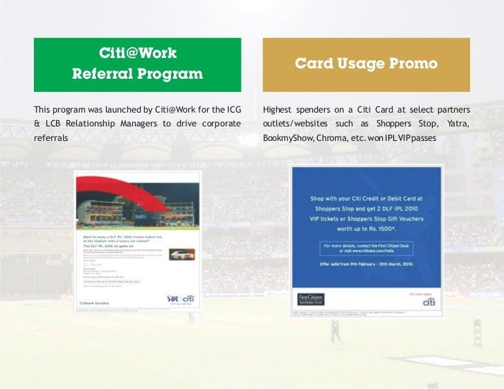 Citi@Work                                                             Card Usage Promo            Referral ProgramThis pro...