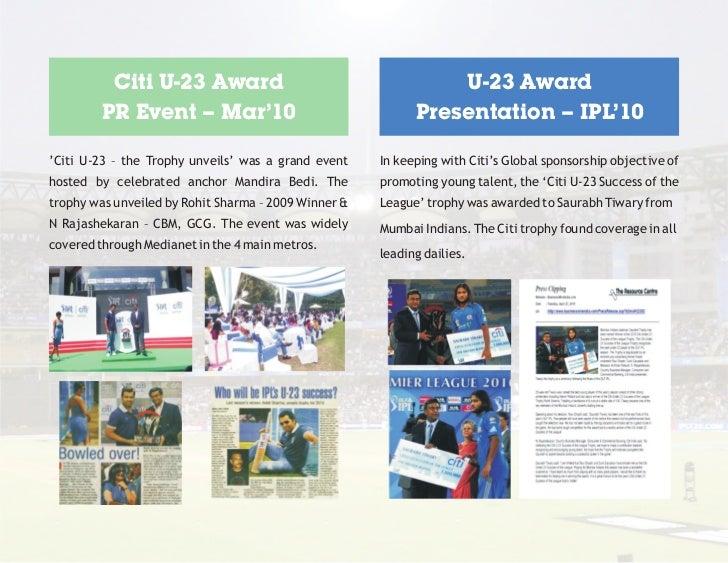 Citi U-23 Award                                       U-23 Award         PR Event – Mar'10                                ...