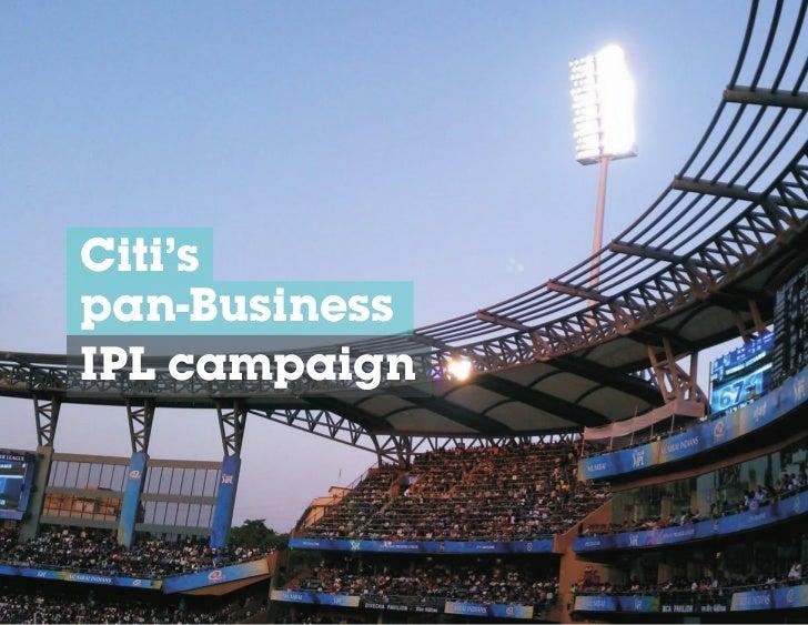 Citi'span-BusinessIPL campaign