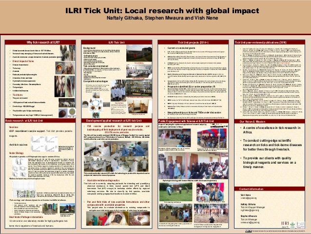 """Template provided by: """"posters4research.com"""" • Global economic losses due to ticks is ~$17-19 billion. • Vectors of many e..."""