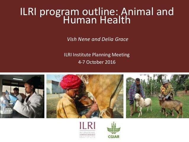 ILRI program outline: Animal and Human Health Vish Nene and Delia Grace ILRI Institute Planning Meeting 4-7 October 2016