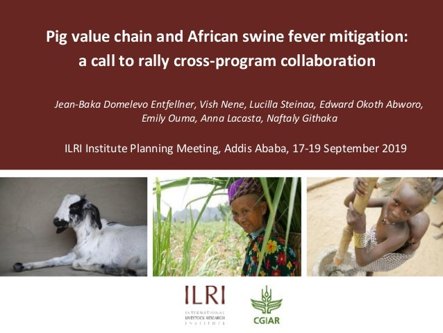 Pig value chain and African swine fever mitigation: a call to rally cross-program collaboration Jean-Baka Domelevo Entfell...