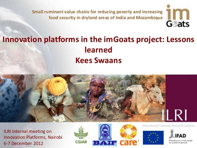 Small ruminant value chains for reducing poverty and increasing                     food security in dryland areas of Indi...