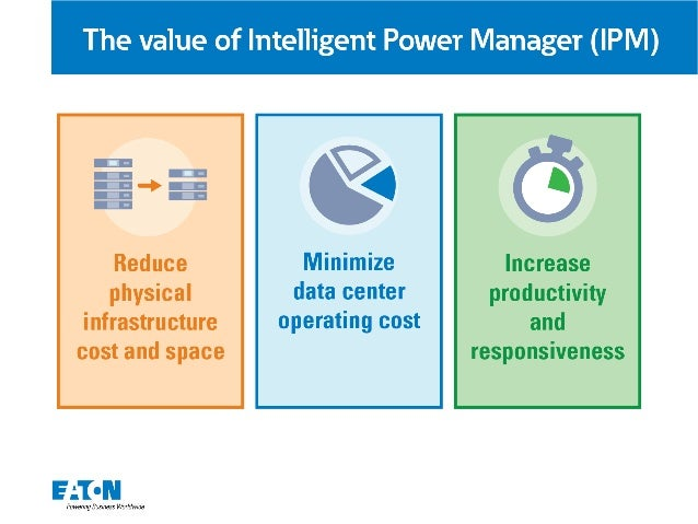 The value of Intelligent Power Manager (IPM)  $6  Reduce Minimize physical data center infrastructure operating cost cost ...