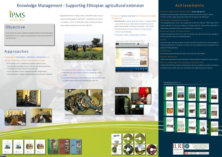 knowledge Management - Supporting Ethiopian agricultural extension                                                        ...