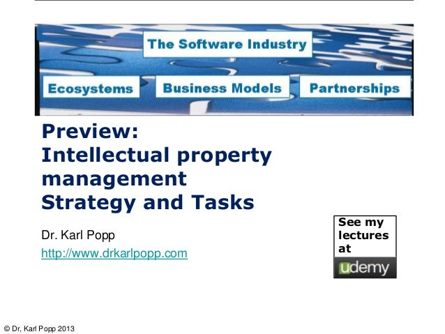 Preview:          Intellectual property          management          Strategy and Tasks                                   ...