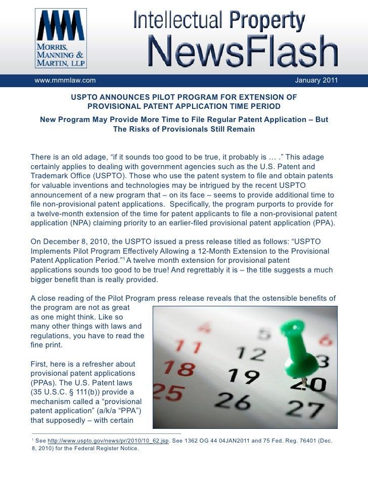www.mmmlaw.com                                                                        January 2011               USPTO ANN...