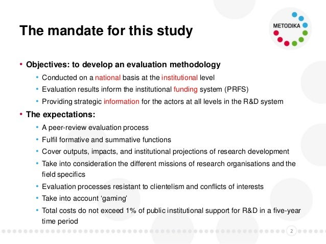 Context & key concepts of the new Evaluation Methodology Slide 3