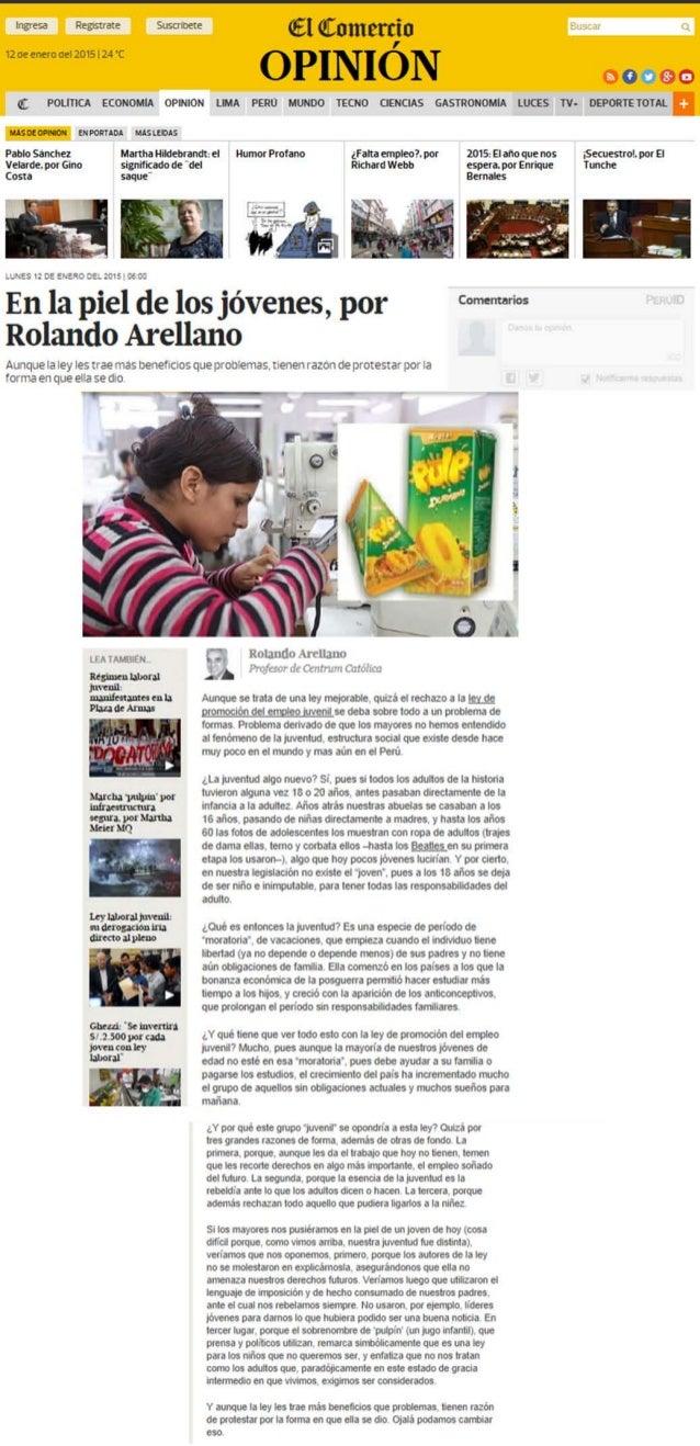 fi POLITICA ECONOMM OPNION  — «nanna usum:   Pablo Sanchez Manna Hidebrandt;  el Humor Profano ('Pana empleol por Velarde. ...