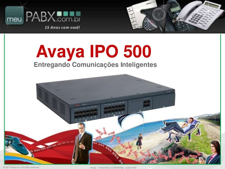 Avaya IPO 500                               Entregando Comunicações Inteligentes© 2007 Avaya Inc. All rights reserved.    ...