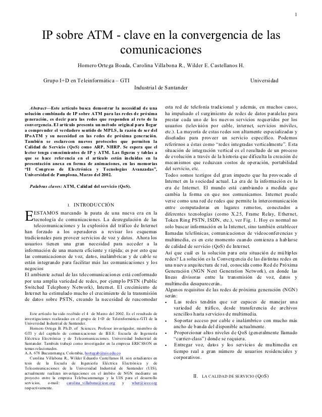 1         IP sobre ATM - clave en la convergencia de las                       comunicaciones                             ...