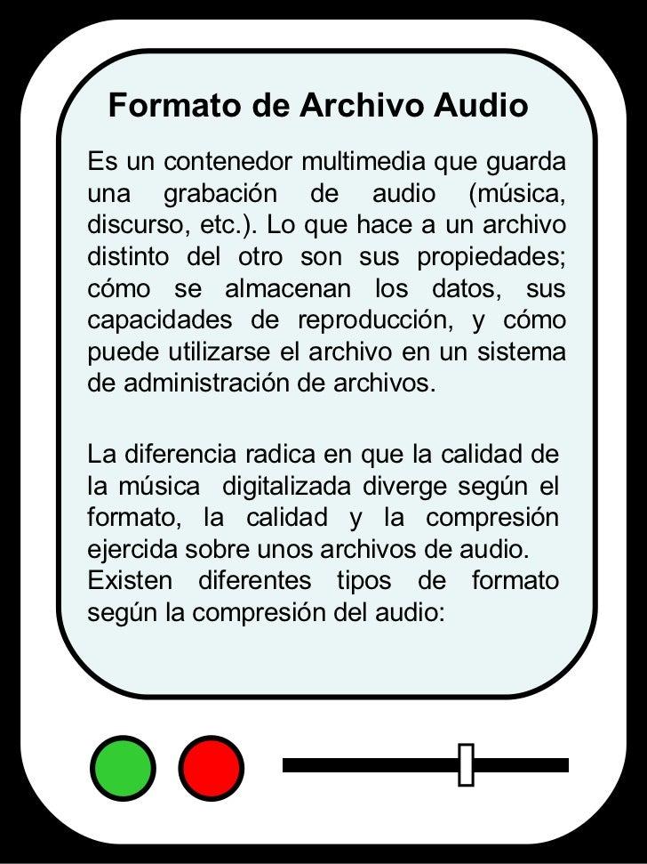 Formatos de Audio Digital Slide 2