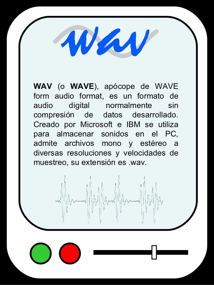 Formatos de Audio Digital Slide 3