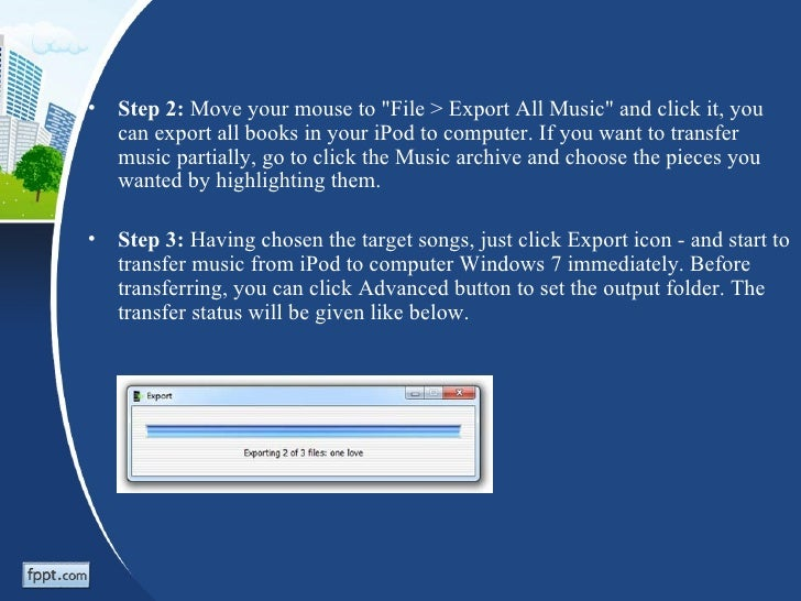 How to Transfer iPod to Computer Windows 7