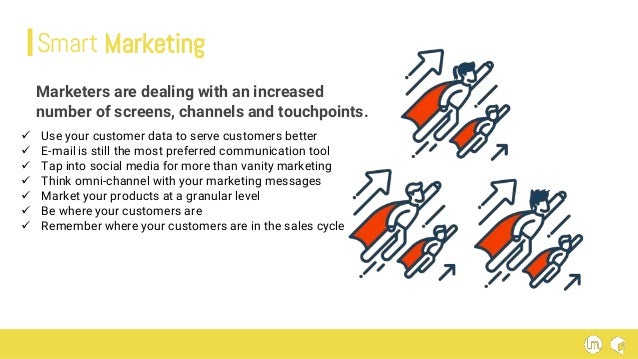 Marketers are dealing with an increased number of screens, channels and touchpoints. Smart Marketing  Use your customer d...