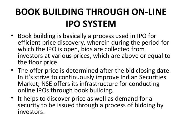 Bidding price for ipo