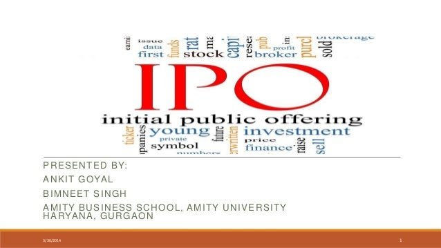 Ipo in india ppt