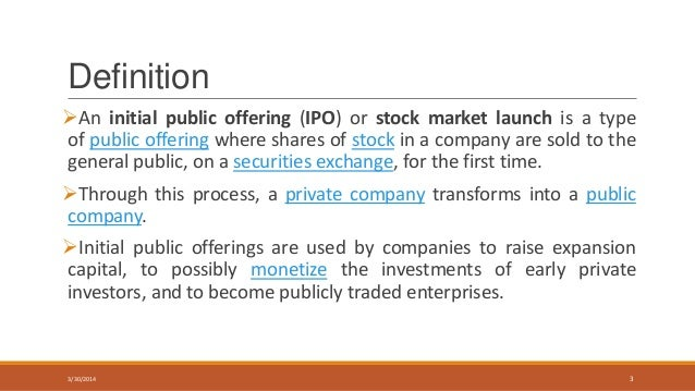 Definition of ipo volume in capital market