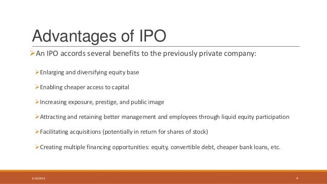 Who benefits from the ipo process