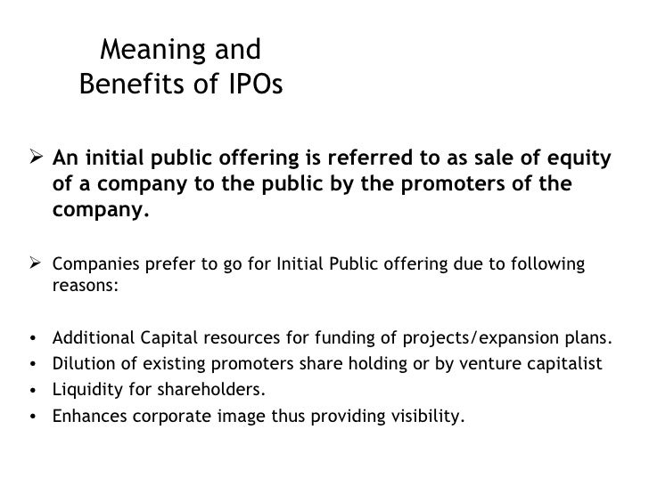 What is ads for an ipo mean