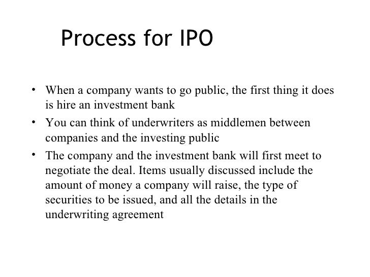 The mean of ipo