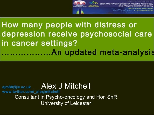 How many people with distress or depression receive psychosocial care in cancer settings? ………………An updated meta-analysis  ...